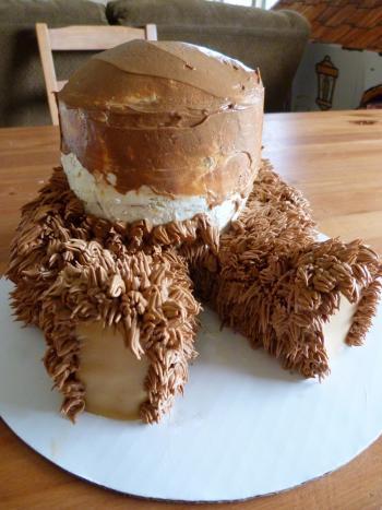 Сладкий и очень аппетитный торт мишка