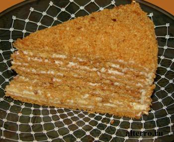 торт рыжик рецепт с фото со сметанным кремом