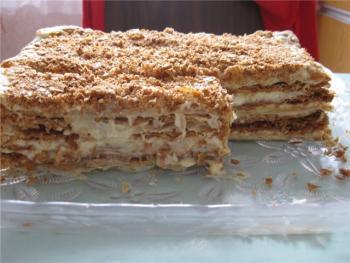Песочный пирог со сгущенкой