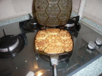 вафли в вафельнице на газу рецепт
