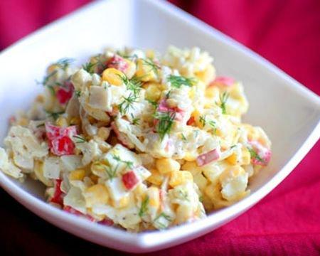 Рецепт салат с крабовыми палочками классический рецепт пошагово